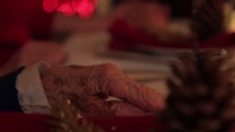 Christmas dinner family prayer.