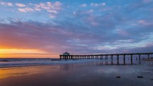 Timelapse of sunset on the beach.
