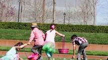 kids at an Easter egg hunt
