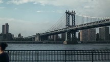 Manhattan bridge timelapse