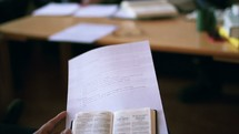 child and a Bible in sunday school
