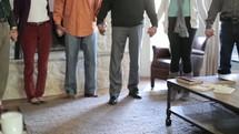 Home Bible study prayer circle.