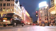 time-lapse moving streets of London