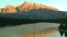 Mount Rundle sunrise time-lapse