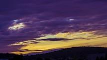 purple sunrise time-lapse