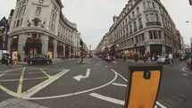 time-lapse traffic on London street