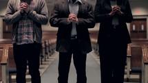 Walking the aisle and praying.
