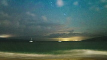 stars over Kaanapali beach