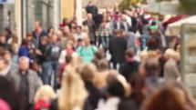 Crowd on a city street.