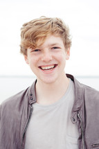a smiling young man