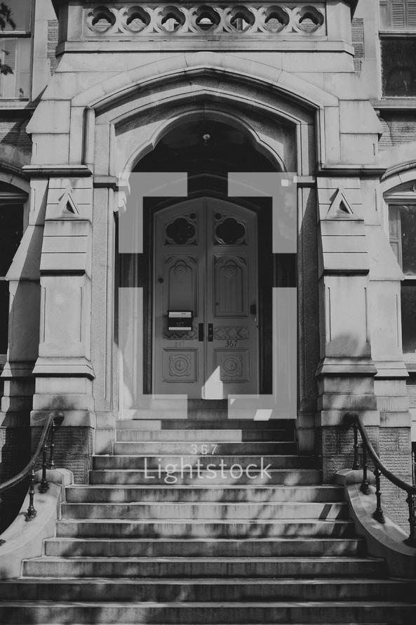 Front door of historical home