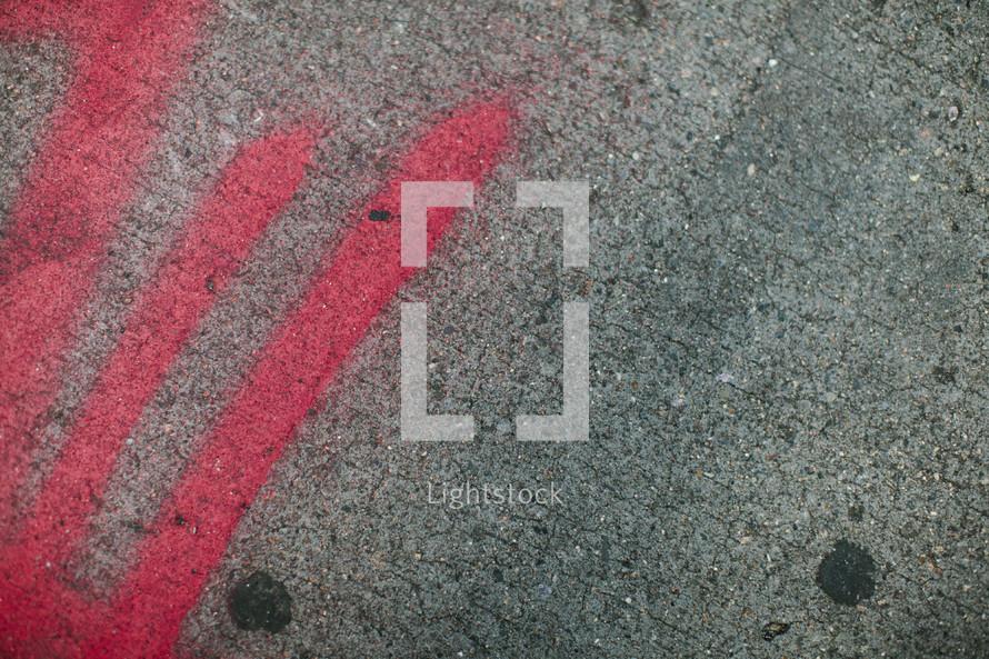 Red street graffiti
