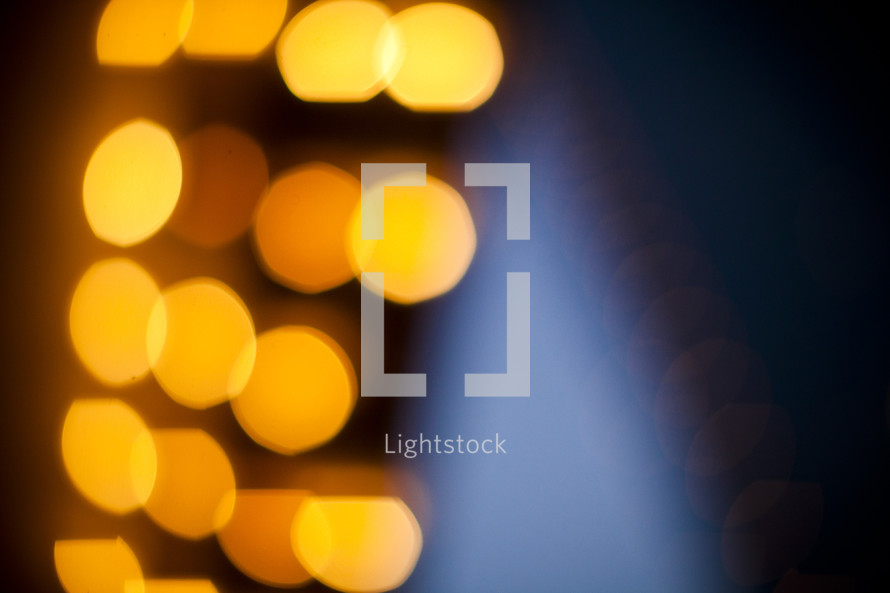 texture - yellow circles  - blue flame - black background