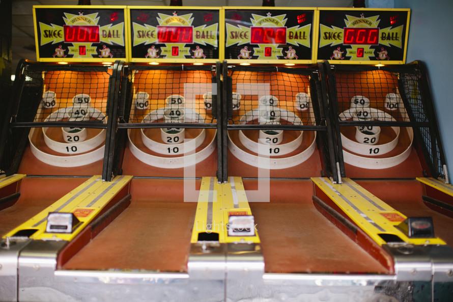 Skee ball machines