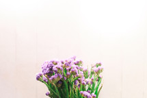 bouquet of tiny purple flowers