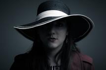 hat, trench coat, posing, woman, model, portrait