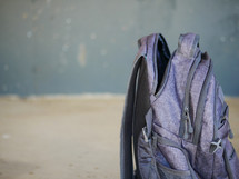 a waiting book bag