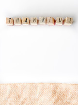 word thankful on a white background