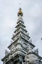 Buddhist temple spire