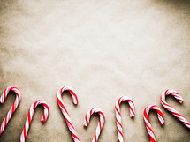 candy cane border on brown paper