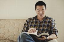 A man reading his Bible
