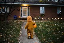 a child trick or treating