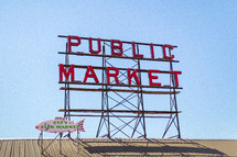 Neon sign for public market
