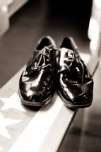 Shiny black shoes
