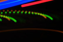 streaks of red blue and green light