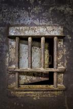 bars on a prison door