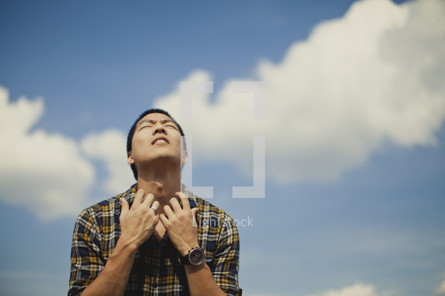 A man crying out to God