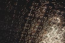 metal embossed texture
