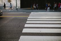 Crosswalk on busy street