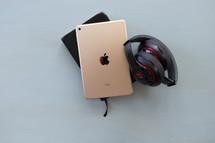 headphone, iPad, journal, blog