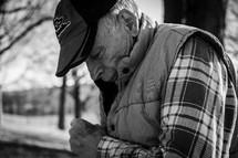 an elderly man in fall
