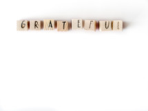 word grateful on a white background