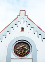 rose window on a church