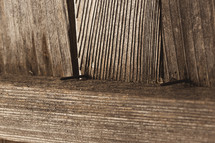 nails in fence board