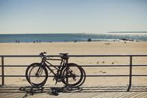Bicycles on the beach boardwalk