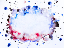 water color splatter on a white background