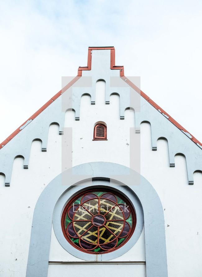 rose window on a church