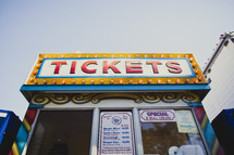 ticket booth at a carnival