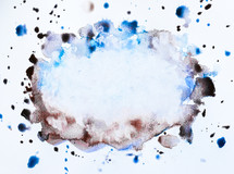 water color splatter on white background