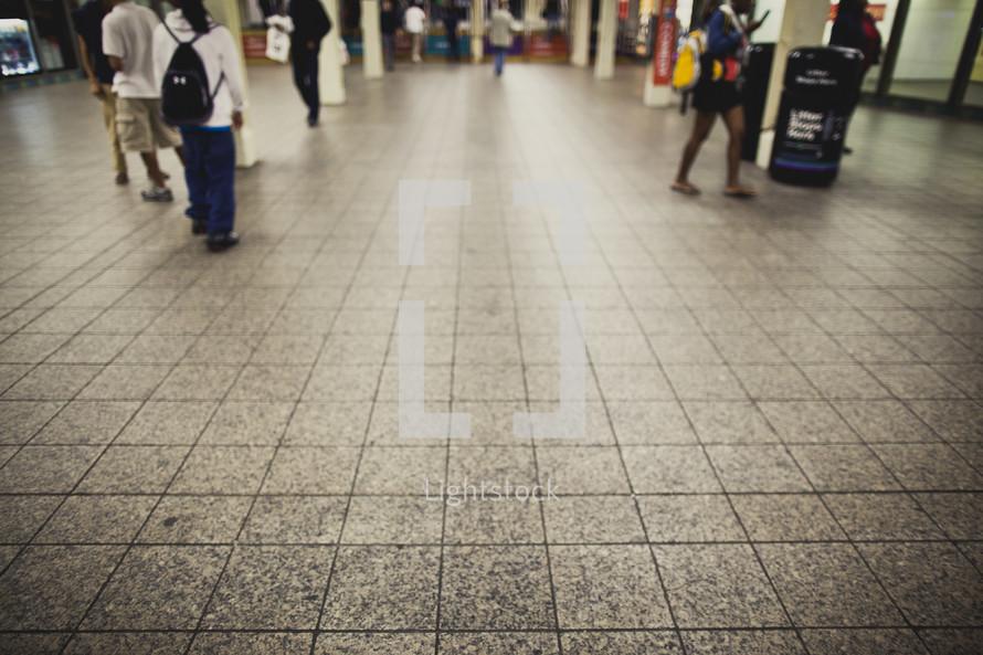 city subway station