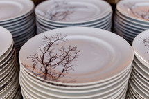 Porcelain plates with design