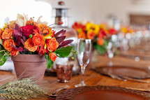 Decorations on a table for Fall