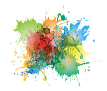 abstract art colorful paint splatter