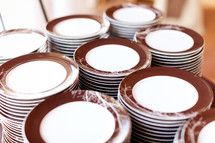 Stacks of plates