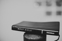 Bible sitting on pole