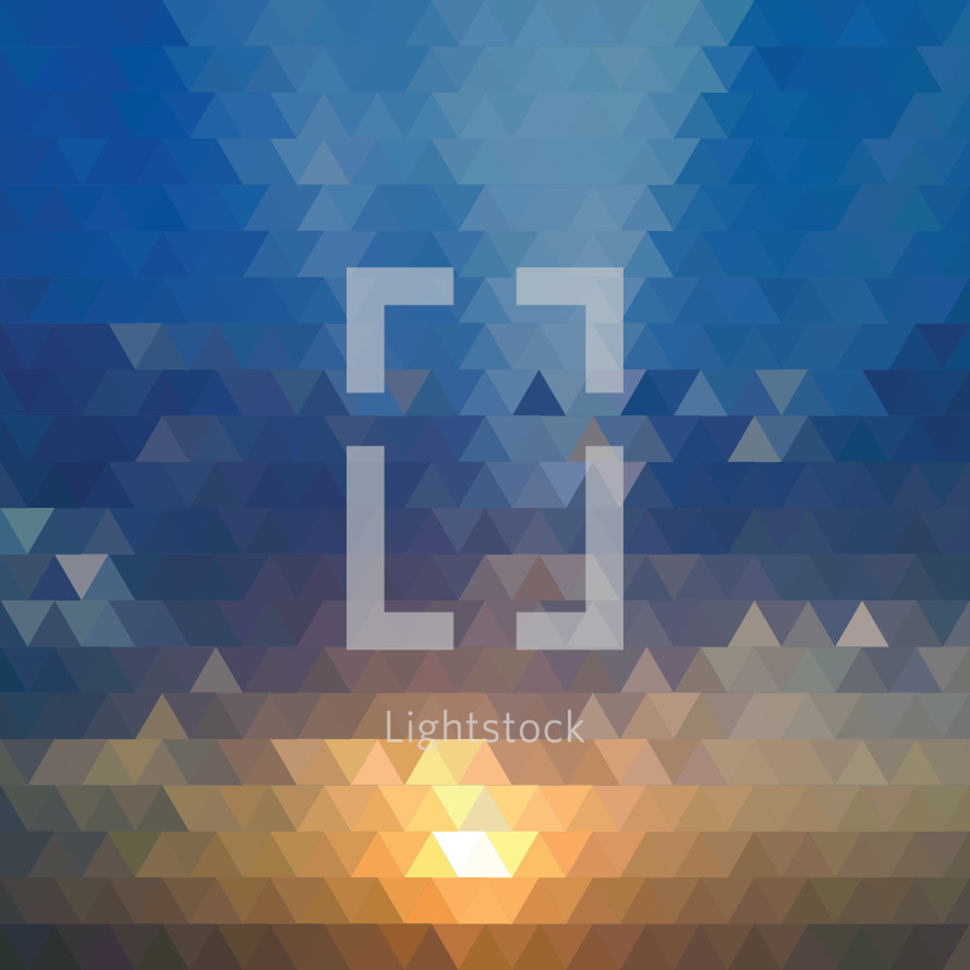 abstract triangle sunset background.